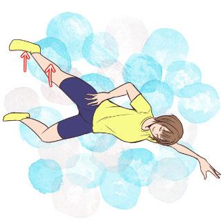 すらりと伸びた美脚を目指せ♡寝転がって外ももエクササイズ!