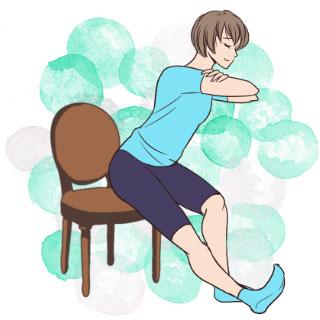 座ったままダイエット♡太ももの後ろを引き締めるエクササイズ