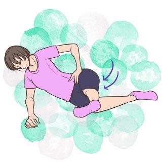 寝る前5分でできる!太ももの前と後ろのストレッチ