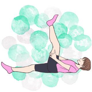 ベッドの上でできる太もも引き締め「動的レッグエクステンション」