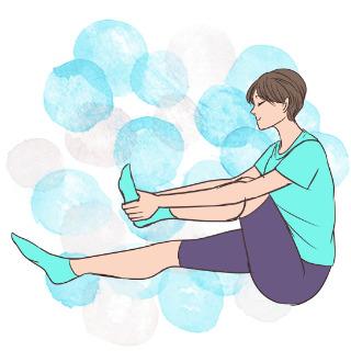 寝る前ちょこっと運動!太ももの引き締め「サギのポーズ」