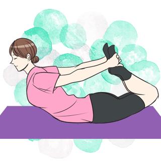 寝る前5分の新習慣!太もも&ヒップアップに効果的な「弓のポーズ」