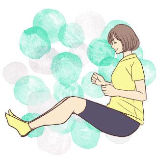 寝る前5分の新習慣!太もも&内ももを引き締める「お尻歩き」