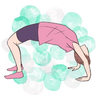 寝る前5分で太ももを引き締めるエクササイズ「アーチのポーズ」