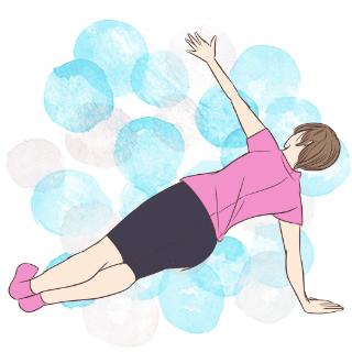 基礎代謝UP!痩せ体質を作れる「プランクオブリーク」
