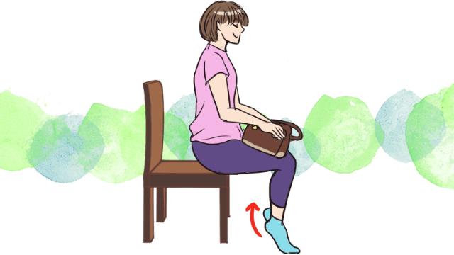 通勤・通学にできる!座りながら足首スッキリエクササイズ