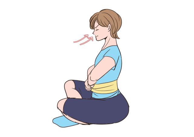 胸式呼吸を実践!_1