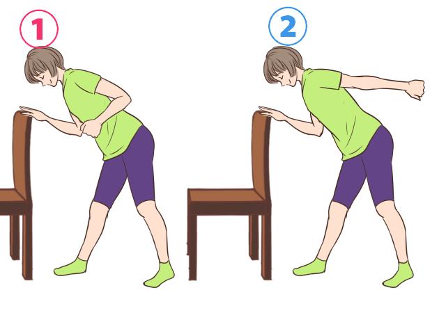 二の腕の引き締めエクササイズの手順