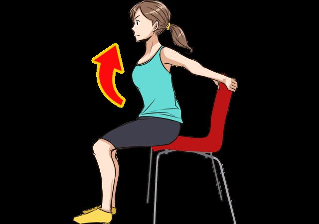 椅子に座ったままできるバストアップエクササイズのやり方_2