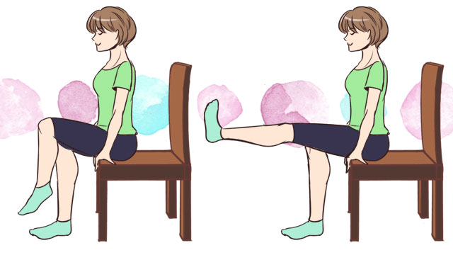 5分で簡単エクササイズ!ベットに座って太ももシェイプ♡