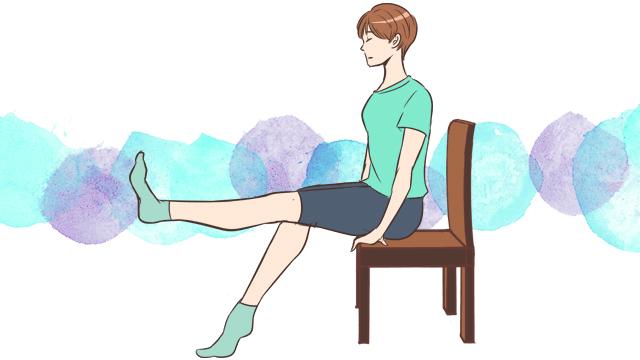 膝をキレイに見せるエクササイズ「レッグエクステンション」