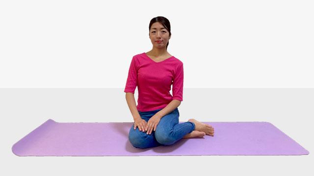エアお姉さん座り方で筋肉を鍛えて体幹を安定させるトレーニング②