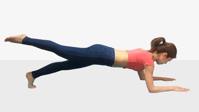 夏まで1ヶ月で痩せるためのトレーニングメニュー「プランク」