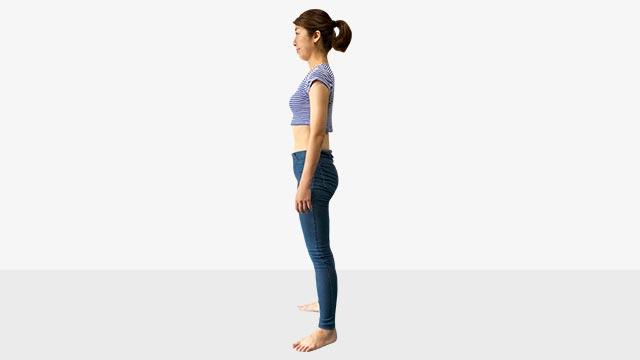 お腹ポッコリの原因と解決法!背筋ピーンエクササイズ
