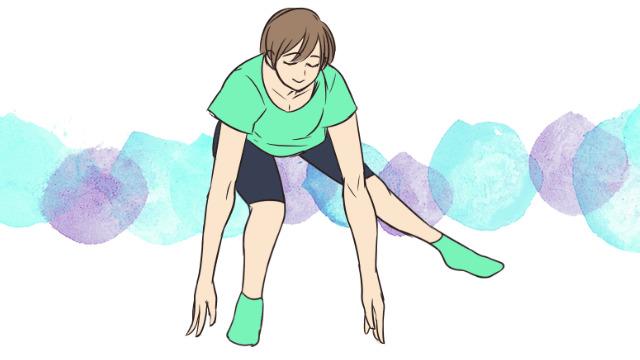 痩せるために鍛えるべき内ももの筋肉を鍛える「ベントオーバーサイドランジ」