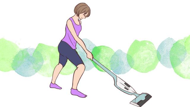 意識を変えるだけでダイエットになる!掃除機をかけながら痩せる方法
