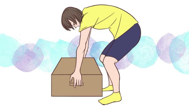 掃除中でも腹筋と背筋を引き締める!荷物を移動させながらダイエット