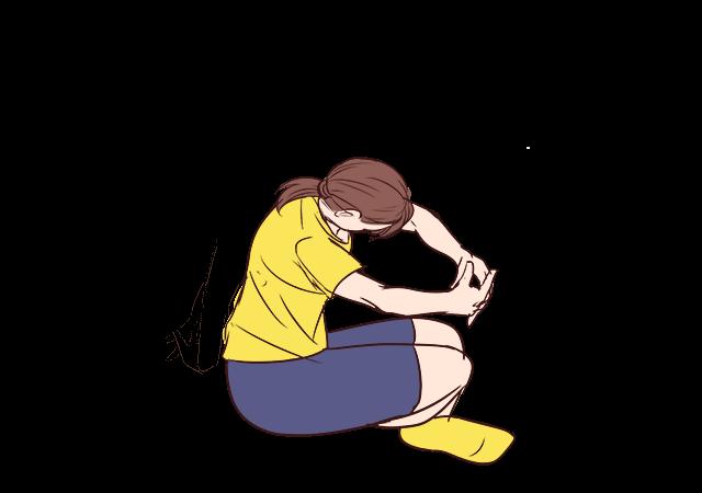 腰のストレッチの手順