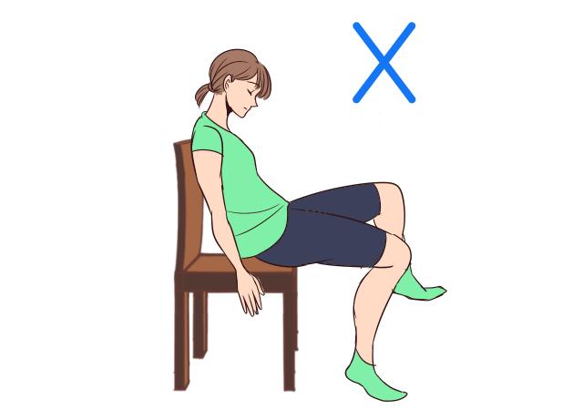 痩せる座り方