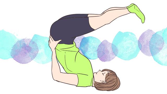 寝る前の5分でできる脚痩せ「バイクエクササイズ」