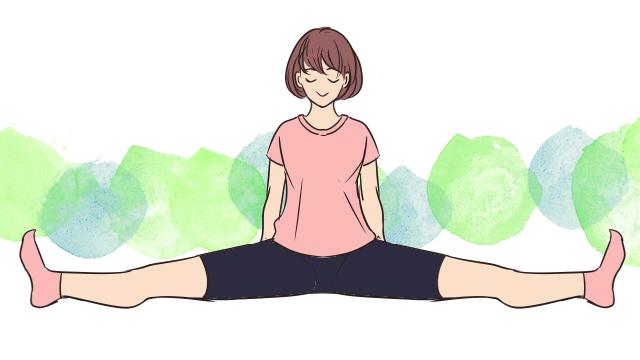 寝る前5分の新習慣!内ももから後ろ太ももに効く「脚を開くポーズ」