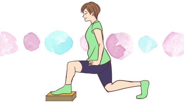 基礎代謝UP!痩せ体質を作れる「段差でレッグラウンジ」