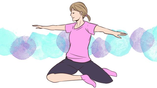 体のゆがみ矯正エクササイズ「背骨の歪みを整える」