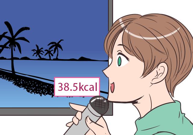 カラオケでカロリー消費!?