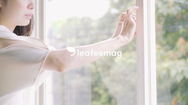 """스마트 폰 문단속 체크! 1000 엔대의 IoT 창문 센서 """"leafeemag"""""""