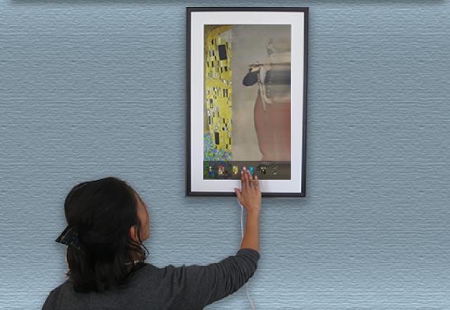 多数の名画が堪能できる、電子キャンバス