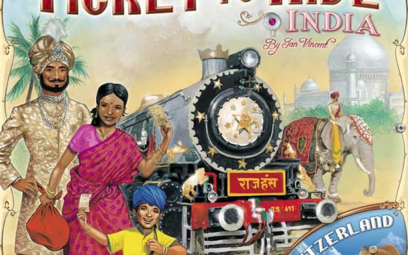 チケット・トゥ・ライド 拡張 インド&スイスマップ