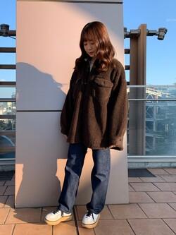 ららぽーと横浜のAyakaさんのLeeの【トップス15%OFFクーポン対象】【ふっくらボア】CPO ジャケットを使ったコーディネート