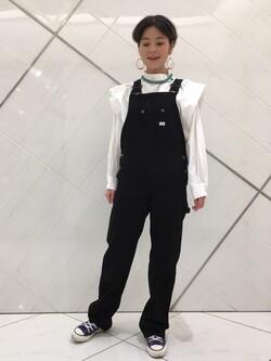熊本COCOSA店のYUUKOさんのLeeの【トップス15%OFFクーポン対象】ビックショルダーシャツを使ったコーディネート