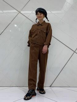 熊本COCOSA店のYUUKOさんのLeeの【トップス15%OFFクーポン対象】【セットアップ対応】ジャケットを使ったコーディネート