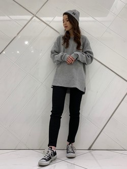 熊本COCOSA店のNANAKOさんのLeeの【オーガニックコットン素材】ワッフル ベーシック長袖Tシャツを使ったコーディネート