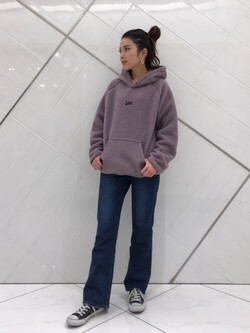 熊本COCOSA店のNANAKOさんのLeeのSTANDARD WARDROBE フレアーを使ったコーディネート