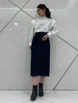 熊本COCOSA店のNANAKOさんのLeeのSTANDARD WARDROBE スカートを使ったコーディネート