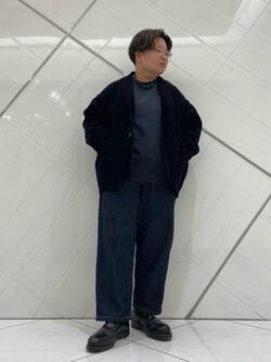 熊本COCOSA店のkazukiさんのLeeの【トップス15%OFFクーポン対象】【ユニセックス】バックプリント クルーネツク長袖を使ったコーディネート