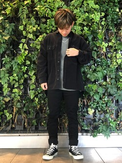 Lee アミュプラザ博多店のTaikiさんのLeeの【ユニセックス】ビッグフィット ワークシャツ(コーデュロイ)を使ったコーディネート