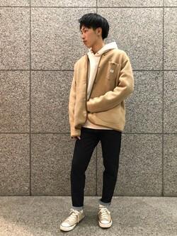札幌パセオ店のTatsukiさんのLeeの【超快適ストレッチ】キャロット スキニーパンツを使ったコーディネート