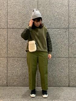 札幌パセオ店のPinanchosuさんのLeeの【トップス15%OFFクーポン対象】【ボア×キルティング】クルーネック プルオーバーを使ったコーディネート