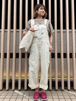 錦糸町PARCO店のKaeさんのEDWINの【直営店限定】【親子コーデができる】クルーネックポケットTシャツ 半袖 【110-180cm】を使ったコーディネート