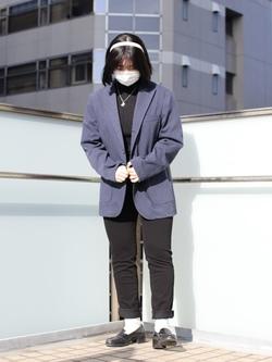 DENIM GALAXY日暮里店ののんさんのEDWINのデニスラ テーラードジャケットを使ったコーディネート