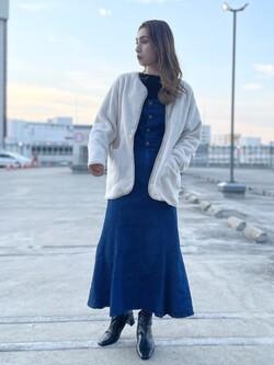 エスパル仙台店のeriさんのLeeのTRAD GIRL サロペット ロングスカートを使ったコーディネート