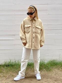 原宿店のAKIさんのLeeの【ふっくらボア】CPO ジャケットを使ったコーディネート