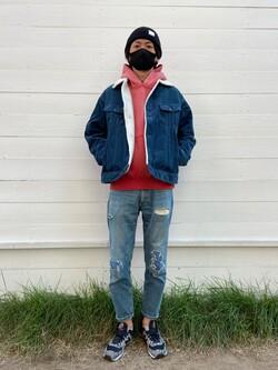 原宿店のYoshitakaさんのLeeのBOA STORM RIDER ジャケット【コーデュロイ】を使ったコーディネート
