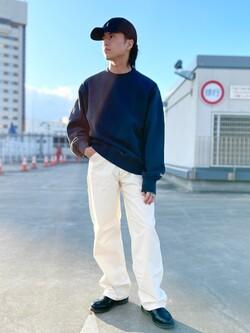 エスパル仙台店のRyuさんのLeeの【ユニセックス】バックプリント クルーネツク長袖を使ったコーディネート