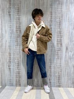 Lee 名古屋店のKazumaさんのLeeのBOA STORM RIDER ジャケット【コーデュロイ】を使ったコーディネート
