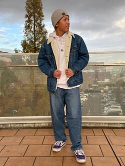 ららぽーと横浜のshoheiさんのLeeのリブ ニット帽/ショートワッチを使ったコーディネート