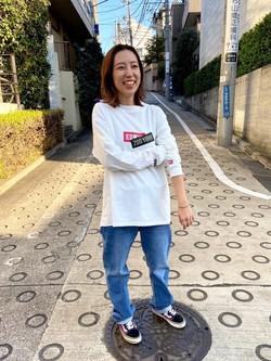 TOKYO HARAJUKU店のFemale StaffさんのEDWINの【コンセプトショップ限定】EDWIN×ZOO YORK LONG SLEEVE TEEを使ったコーディネート